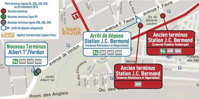 Lignes d'Azur new terminus