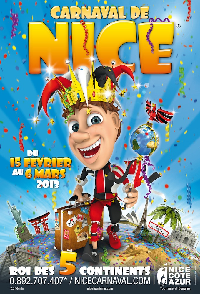 Carvaval de Nice 2013 official poster