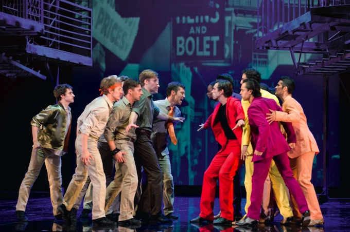 The Jets and Sharks face off in West Side Story