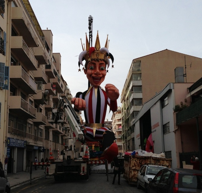 The King of Carnaval gets ready in Nice