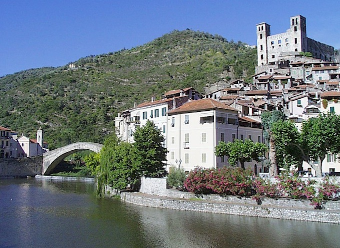View of Dolceacqua in Italy