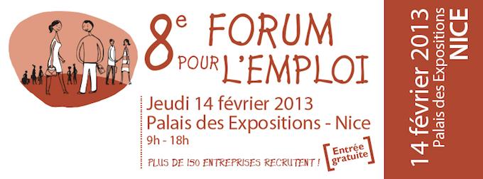 Forum pour l'emploi 2013 in Nice