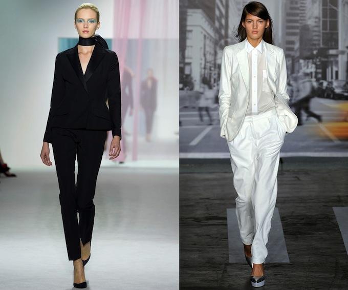 Dior and DKNY tuxedos