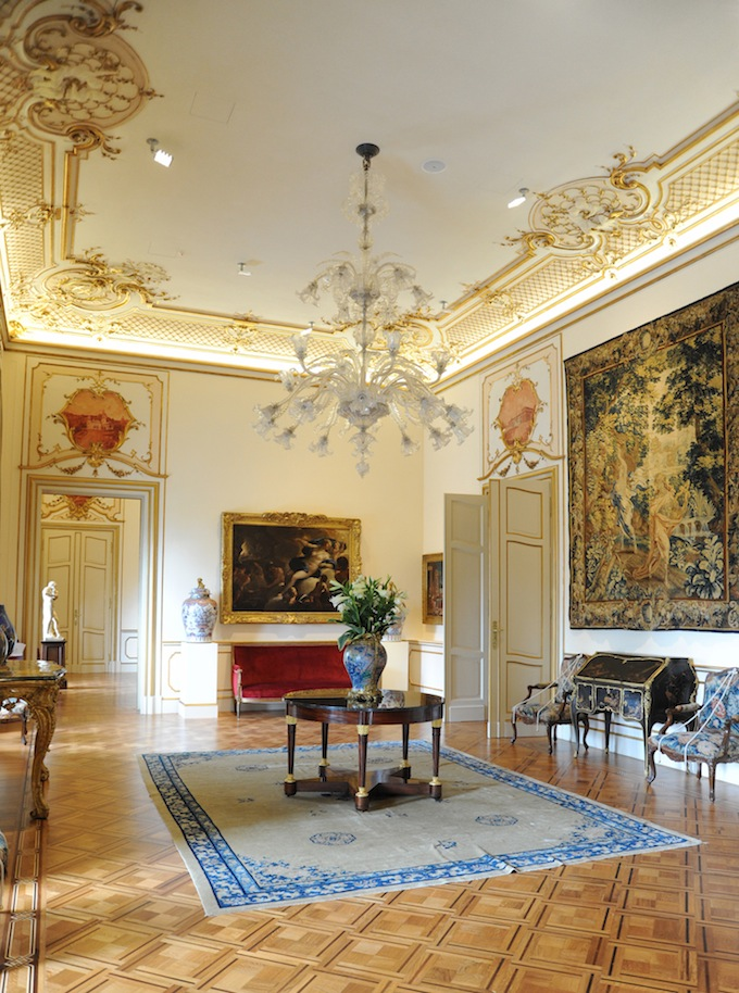 The plush interior of the Villa Regina Margherita in Liguria