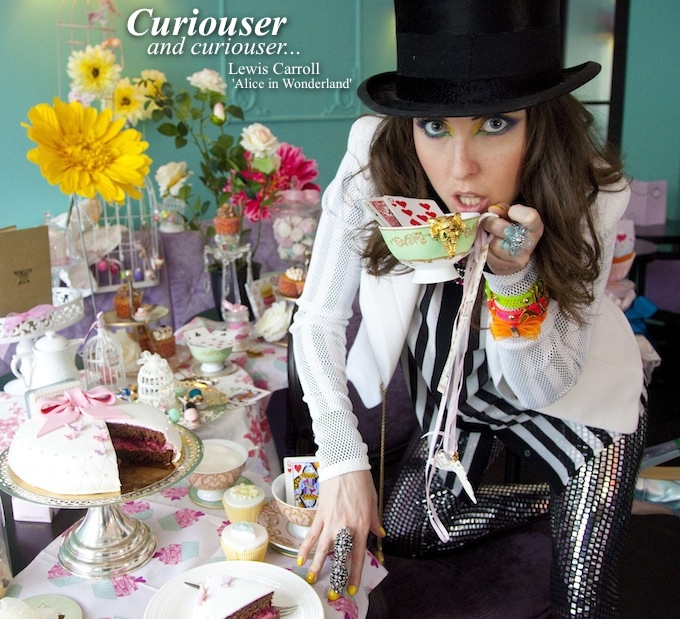 The Mad Hatter's Tea Party fashion shoot