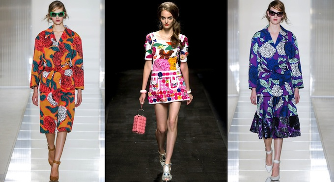 Marni and Moschino creations - courtesy Style.com