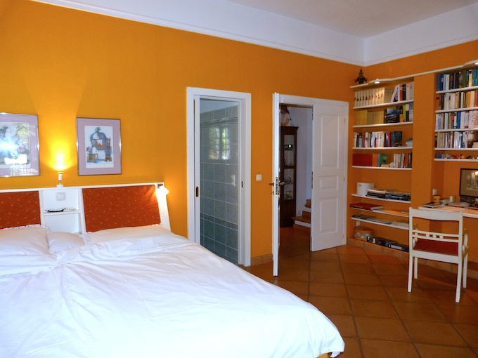 The master bedroom in the property