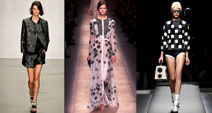 Helmut Lang, Valentino and Prada creations - courtesy Style.com