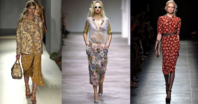 Creations by Mulberry, Dries Van Noten and Bottega Veneta - courtesy Style.com