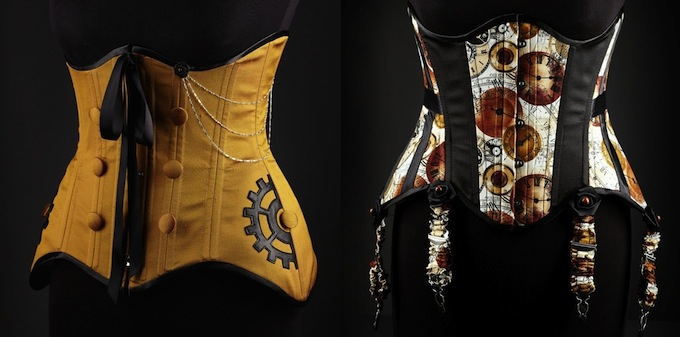 Steampunk corsets by Victorian Woman