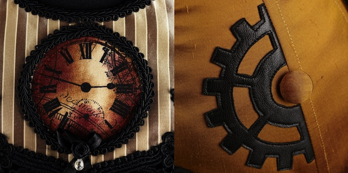 Clocks and gears are very much the symbols of Steampunk