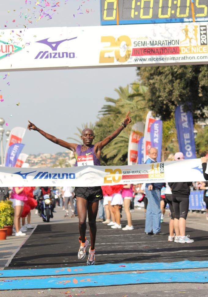 Winner of the Semi Marathon de Nice 2011