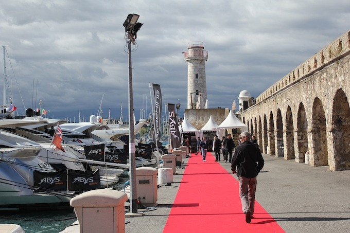 Red carpet treatment at the Antibes Yacht Show 2013!
