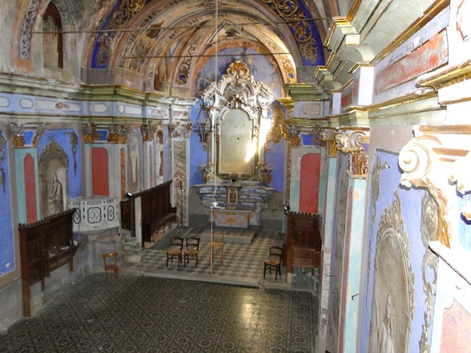 The Baroque chapel in the Manor House in Perinaldo