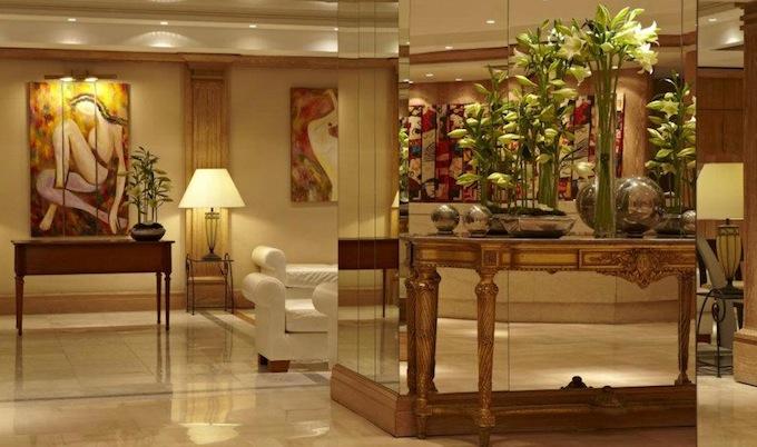 Interior of Boscolo B4 Plaza Hotel in Nice