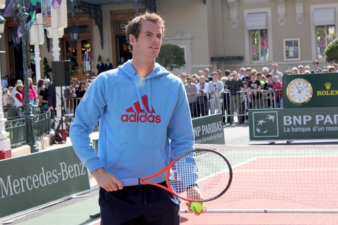 Andy Murray displays his mini-tennis skills in Monte-Carlo
