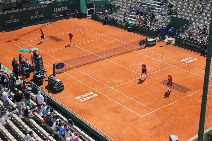 Keeping the courts clean in Monte-Carlo