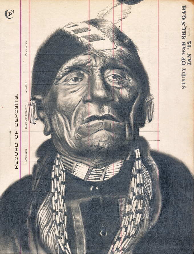 Chris Pappen's Wahshungah Study, part of the indigenous Brilliance exhibition