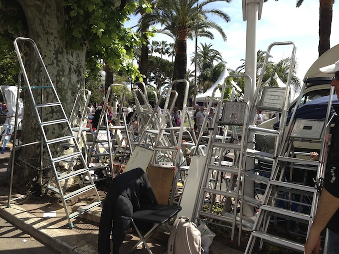 Ladders at the ready - Cannes Film Festival 2013