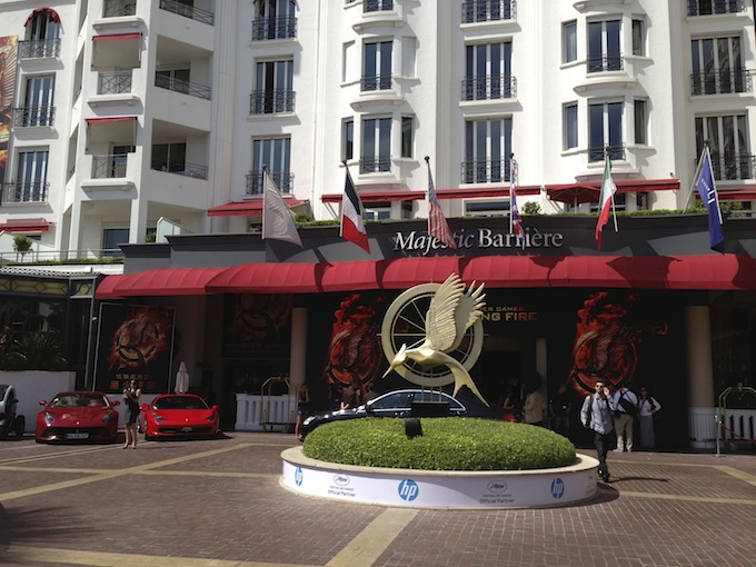 Waiting for celebs to arrive at Majestic Barrière Festival de Cannes 2013