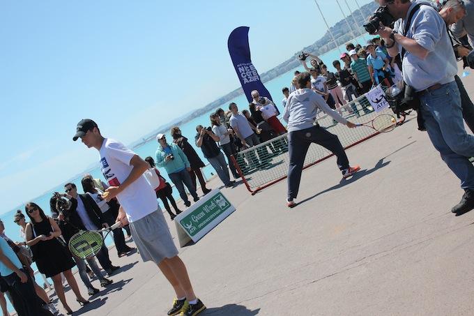 Mini tennis fun with the pro's in Nice