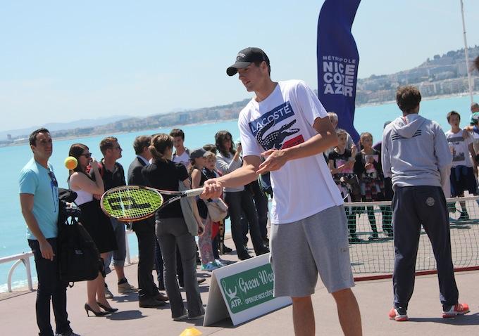 John Isner in Nice