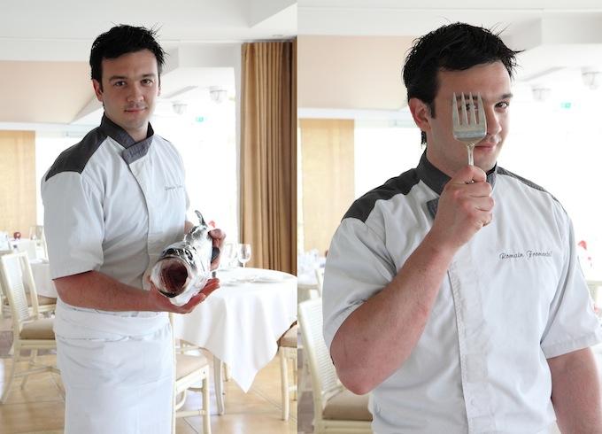 Romain, the chef at Restaurant de Bacon, having fun!