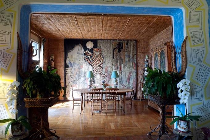 The dining room in Villa Santo Sospir