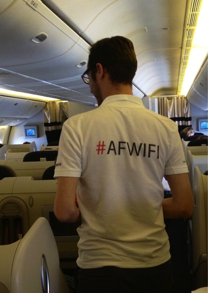 WiFi trials on Air France flights