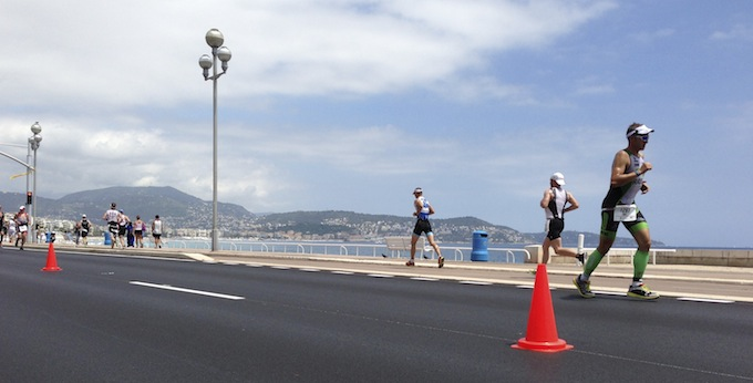 Ironman® France marathon runner on the Promenade des Anglais in Nice
