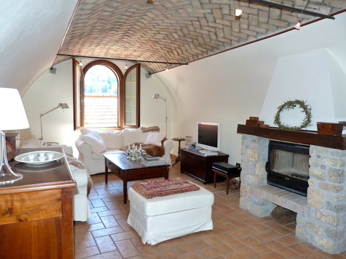 Living room of Dolceacqua property