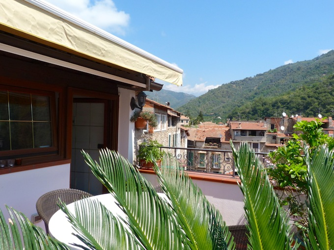 Spectacular panoramic views from the Dolceacqua property