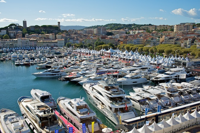 Birdseye view of Cannes Yacht Show 2012