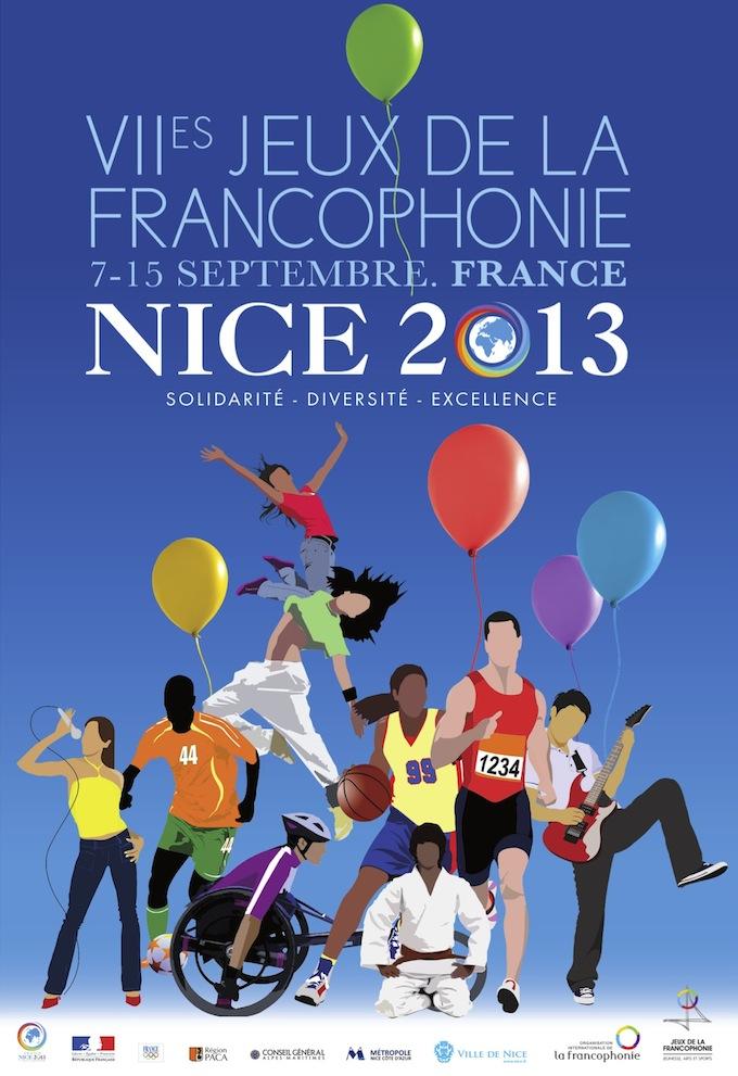 Les Jeux de la Francophonie 2013 affiche