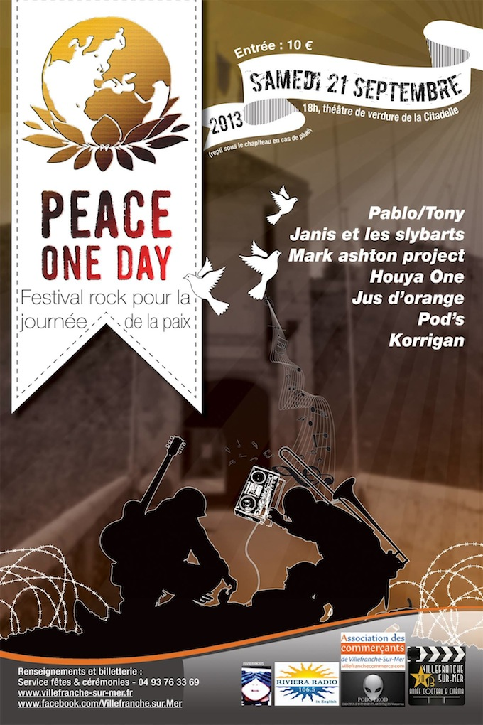 Peace One Day 2013 concert in Villefranche-sur-Mer