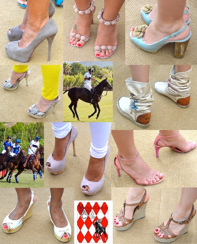 An array of footwear at the Monaco Polo tournament 2013