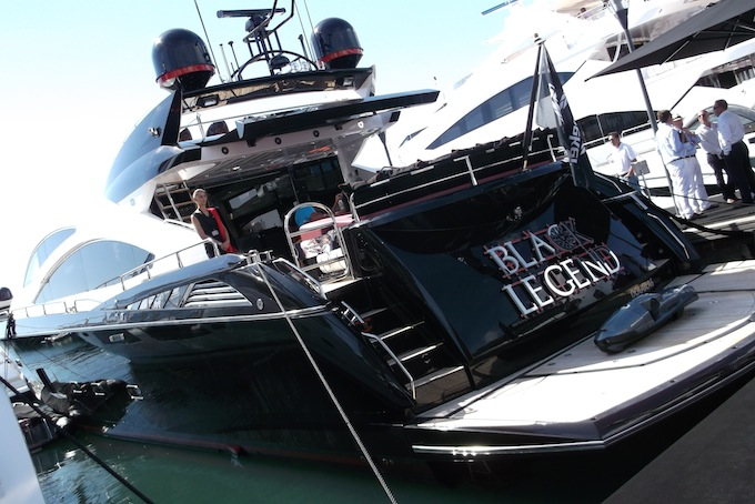 Black Legend yacht at Cannes Yacht Show 2013