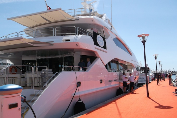 Big boats at the Cannes Yacht Show 2013