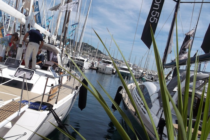 View from the quayside Cannes Yacht Show 2013