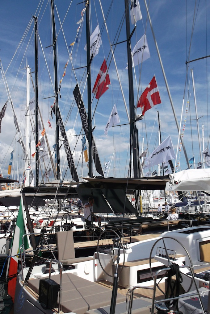 A sea of masts at Cannes Yacht Show 2013