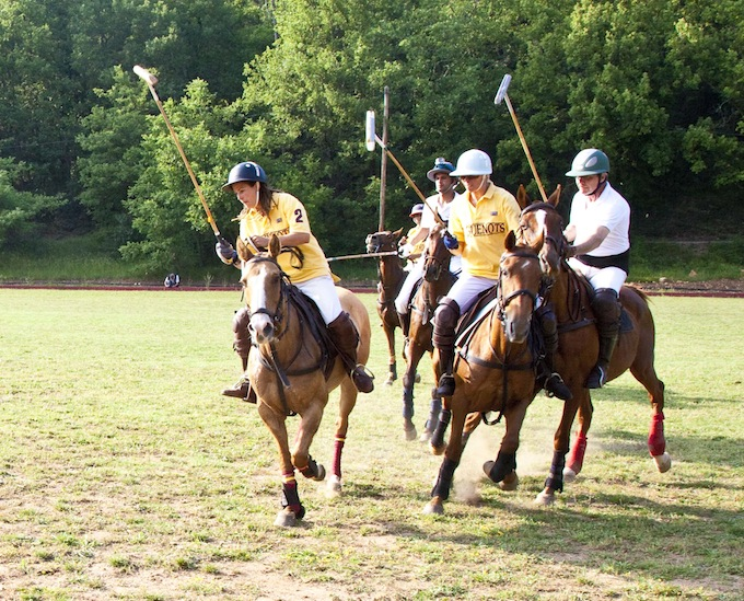 A polo match underway in Callian © Mike Colquhoun