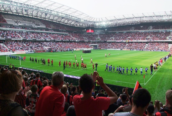 The first home match for OGC Nice in the Allianz Riviera stadium