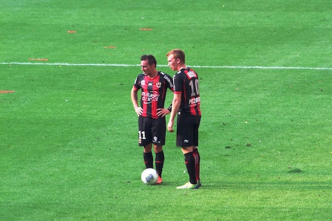 OGC Nice in action at Allianz Riviera