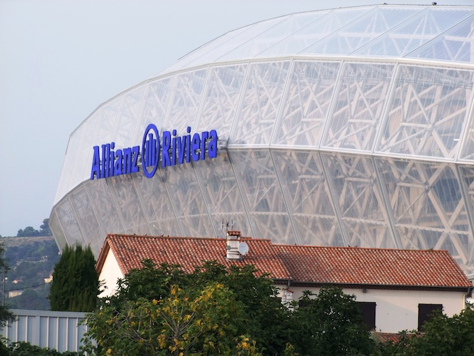The new Stade Allianz Riviera in Nice