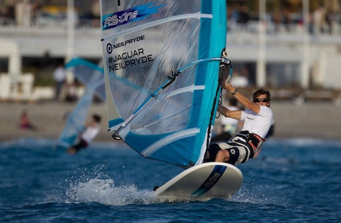 Windsurfing action from the Extreme Sailing Series in Nice 2012 - photo © Lloyd
