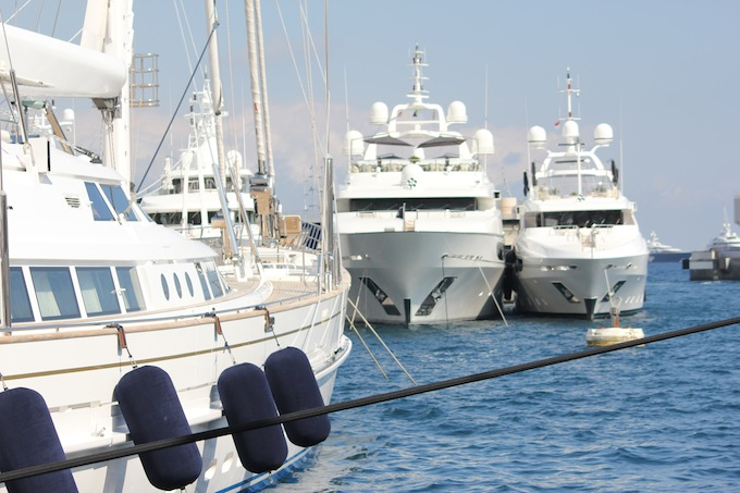 Some nice yachts at the Monaco Yacht Show 2013