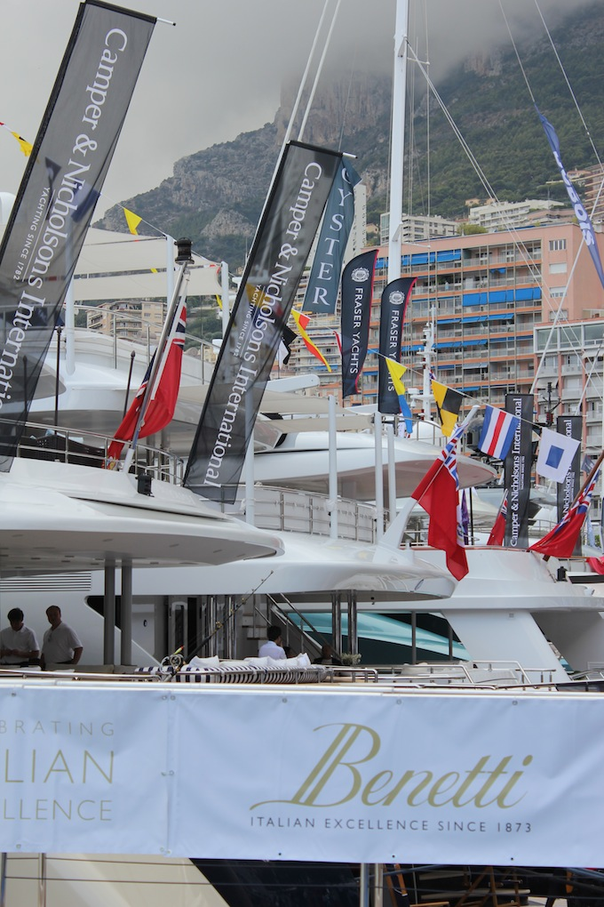 Quayside at the 2013 Monaco Yacht Show