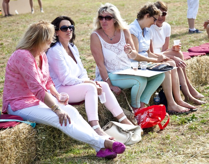 Some of the spectators at a polo match in Callian