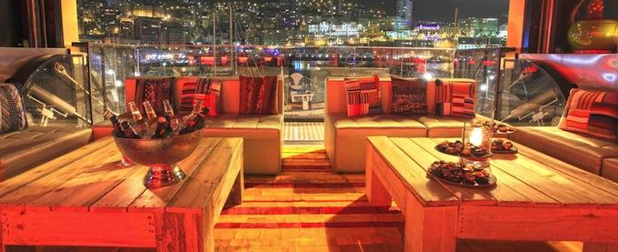 Star Deck restaurant overlooking the port in Monaco