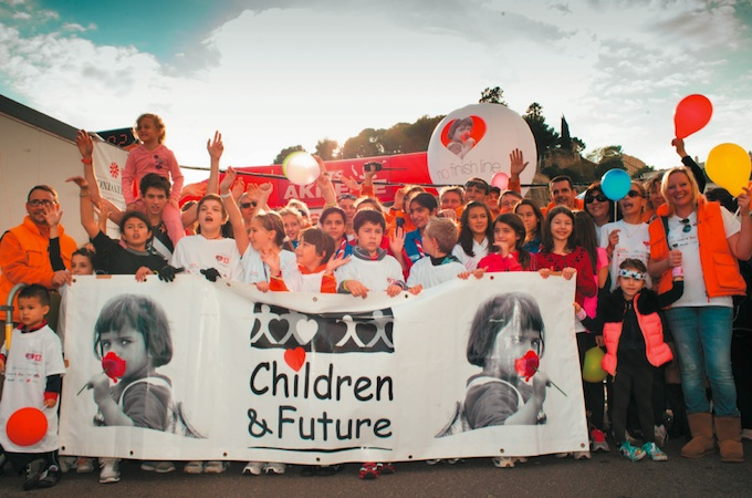 Children & Future charity group at Monaco No Finish Line 2012